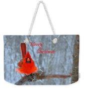 Christmas Red Cardinal Weekender Tote Bag