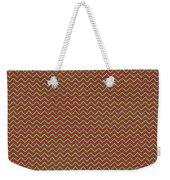Christmas Colors Chevron Weekender Tote Bag