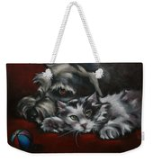 Christmas Companions Weekender Tote Bag by Cynthia House