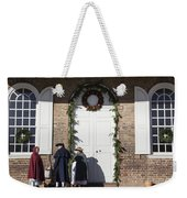 Christmas Conversation At The Courthouse Weekender Tote Bag