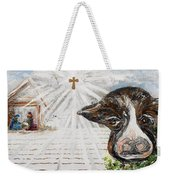 Christmas Cow - Oh To Have Been There... Weekender Tote Bag