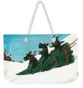 Christmas Day Scottie Style Weekender Tote Bag
