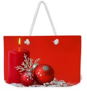 Christmas Decoration Background Weekender Tote Bag