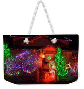 Christmas Decorations At Residential Weekender Tote Bag