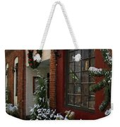 Christmas Decorations In Grants Pass Old Town  Weekender Tote Bag
