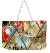 Christmas Decorations In Window Weekender Tote Bag