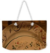 Christmas Dinnerware Weekender Tote Bag