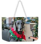 Christmas Dog Weekender Tote Bag