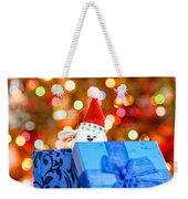 Christmas Dog In Bx Weekender Tote Bag