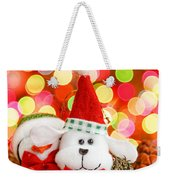 Christmas Dog Weekender Tote Bag
