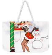Christmas Elf Cleo Weekender Tote Bag by Renate Janssen