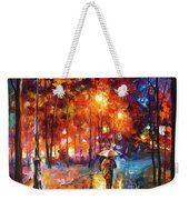 Christmas Emotions - Palette Knife Oil Painting On Canvas By Leonid Afremov Weekender Tote Bag