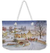 Christmas Eve In The Village  Weekender Tote Bag by Stanley Cooke