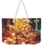 Christmas Eve Weekender Tote Bag by Mo T