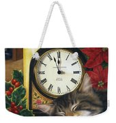 Christmas Eve Nap Weekender Tote Bag
