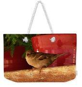 Christmas Finch Weekender Tote Bag