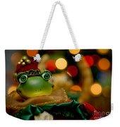 Christmas Frog Weekender Tote Bag