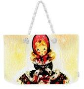 Christmas Girl Weekender Tote Bag