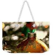 Christmas Gold Weekender Tote Bag