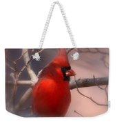 Christmas Greetings - Cardinal Weekender Tote Bag