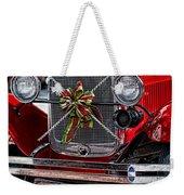 Christmas Grillwork Weekender Tote Bag