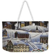 Christmas In Fox Creek Village Weekender Tote Bag