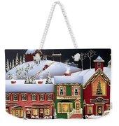 Christmas In Holly Ridge Weekender Tote Bag by Catherine Holman