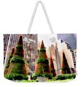 Christmas In New York City Weekender Tote Bag