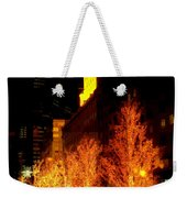 Christmas In New York - Trees And Star Weekender Tote Bag