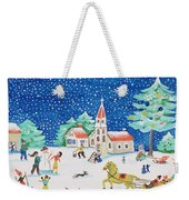 Christmas Joy Weekender Tote Bag