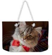 Christmas Kitten Weekender Tote Bag