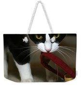 Christmas Kitty Weekender Tote Bag