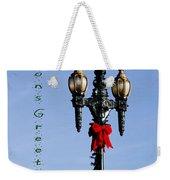 Christmas Lamp Post Grn 2013 Weekender Tote Bag