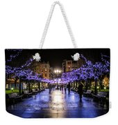 Christmas Lights In Gijon Weekender Tote Bag
