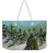 Christmas Mountain Weekender Tote Bag