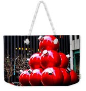 Christmas New York Style Weekender Tote Bag