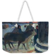 Christmas Night Blessing Of The Oxen Weekender Tote Bag