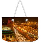 Christmas On The Plaza Weekender Tote Bag