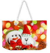 Christmas Penguin And Puppy Weekender Tote Bag