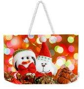 Christmas Penguin Weekender Tote Bag