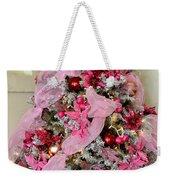 Christmas Pink Weekender Tote Bag