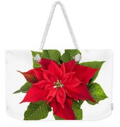 Christmas Poinsettia  Weekender Tote Bag