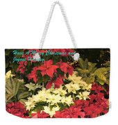 Christmas Poinsettias  Weekender Tote Bag