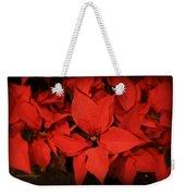 Christmas Poinsettias Weekender Tote Bag