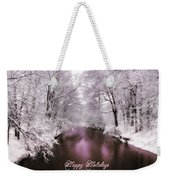 Christmas Pond Weekender Tote Bag