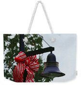 Christmas Post And Bow Weekender Tote Bag