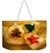 Christmas Potato Stamps Weekender Tote Bag