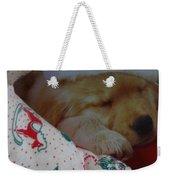 Christmas Pup Weekender Tote Bag