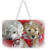 Christmas Puppy Weekender Tote Bag