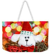 Christmas Puppy Weekender Tote Bag